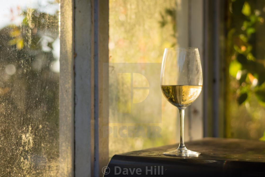 """Summer evening wine"" stock image"