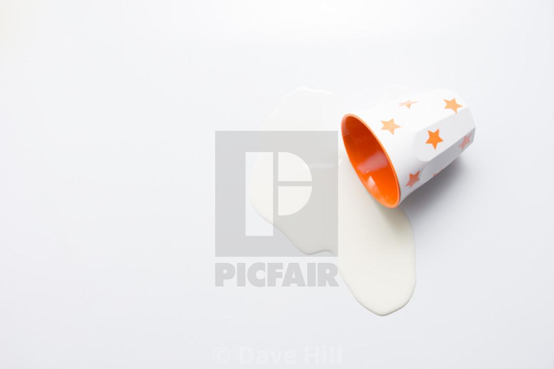 """""""Splilt milk"""" stock image"""