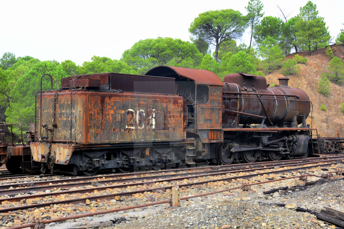 """Rusty steam machine"" stock image"