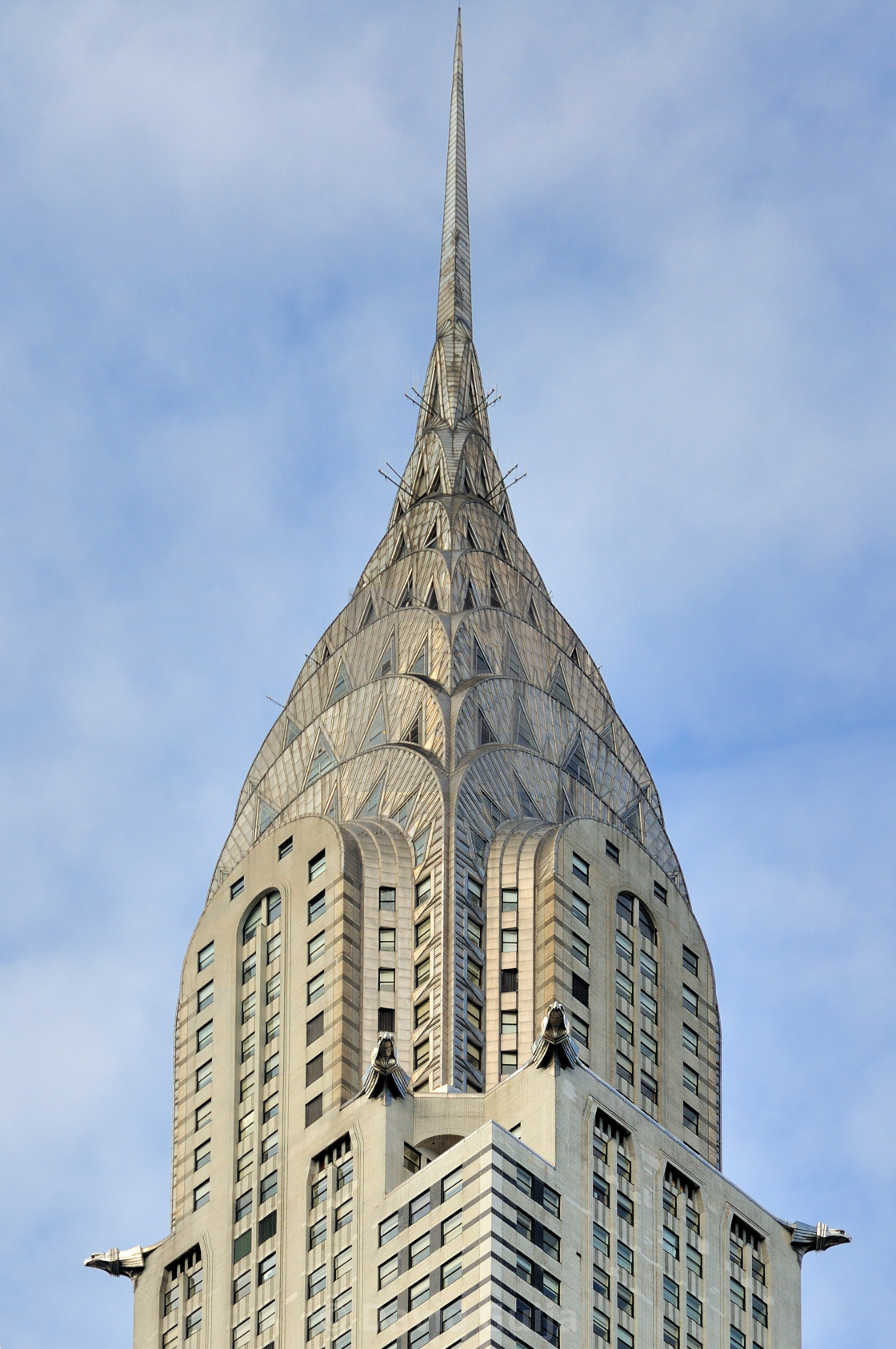 """Top of the Chrysler building"" stock image"
