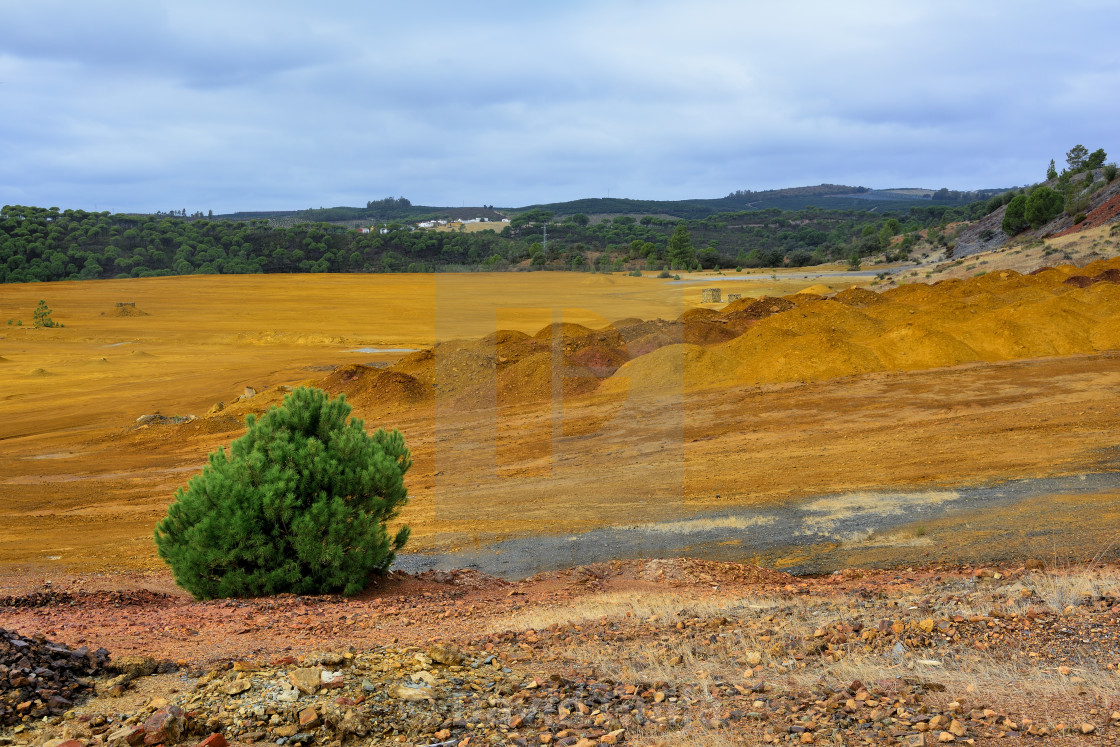 """Sulfur field"" stock image"