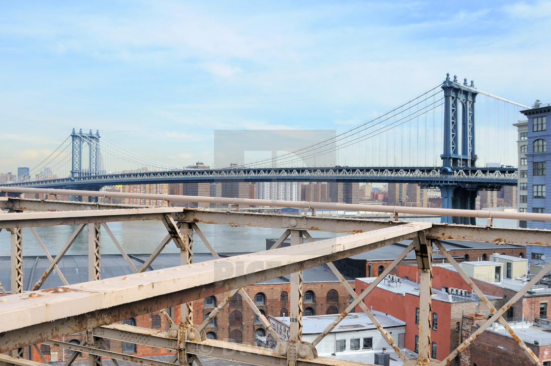 """Bridges on East River"" stock image"