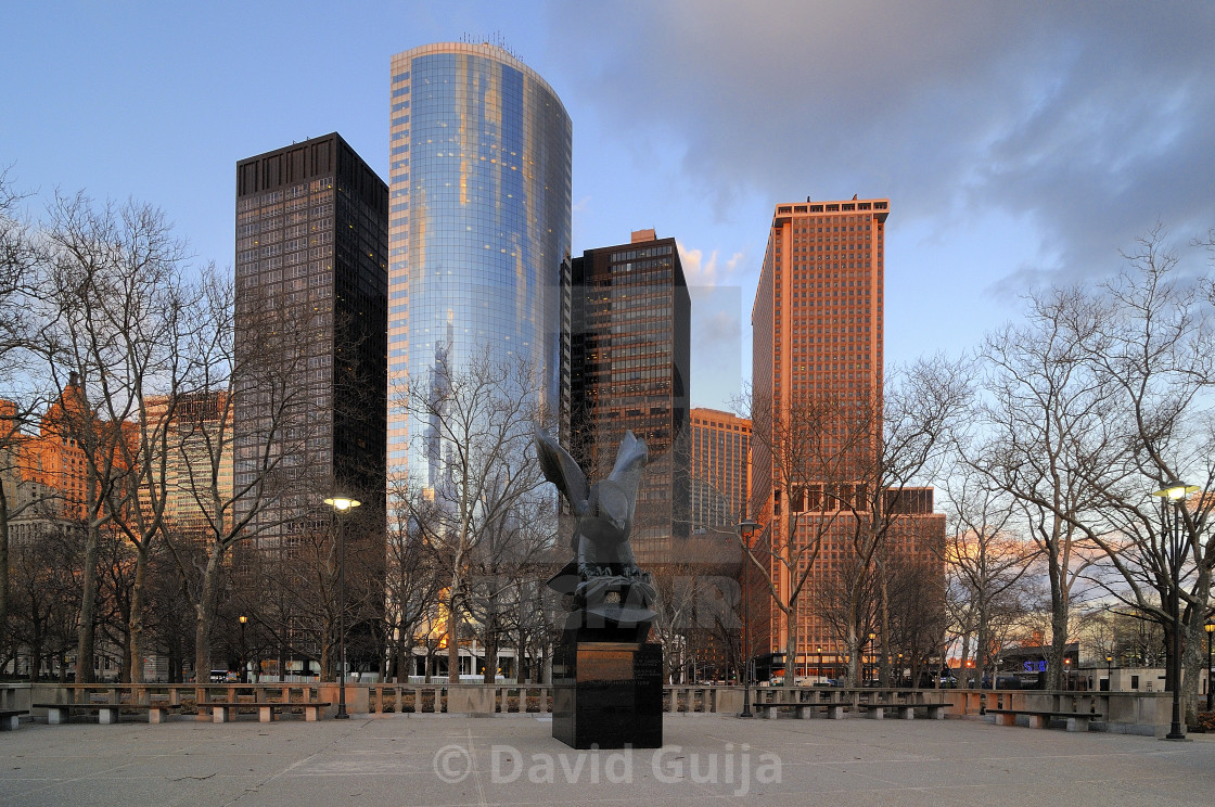 """""""Eagly of Battery Park"""" stock image"""
