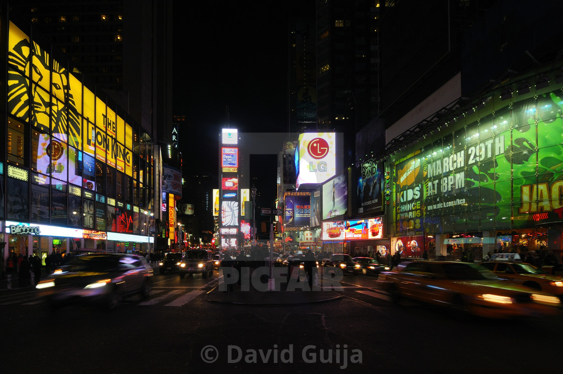 """Busy night at Times Square"" stock image"