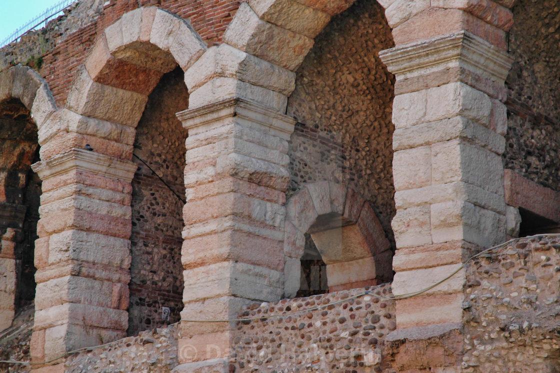 Verona Roman arena arches