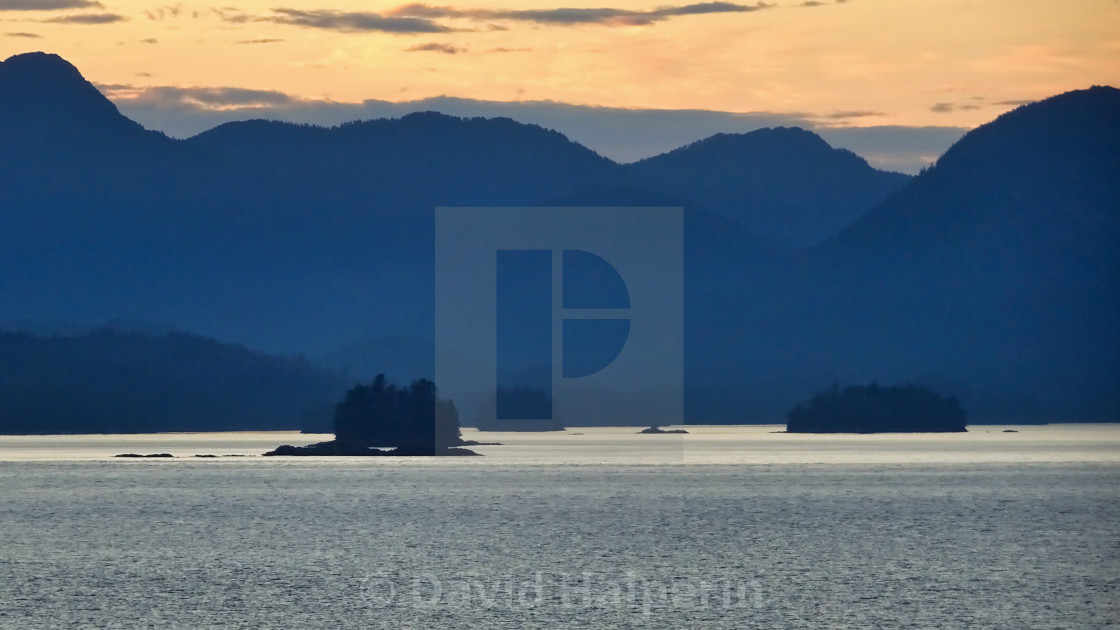 Alaskan coast, twilight view towards Kosciusko or Prince of Wale