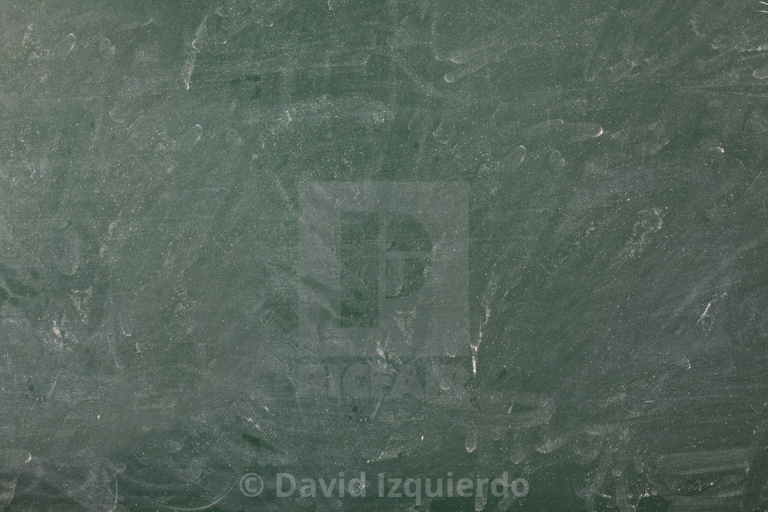 """""""Erased and dirty green college blackboard with space to write"""" stock image"""