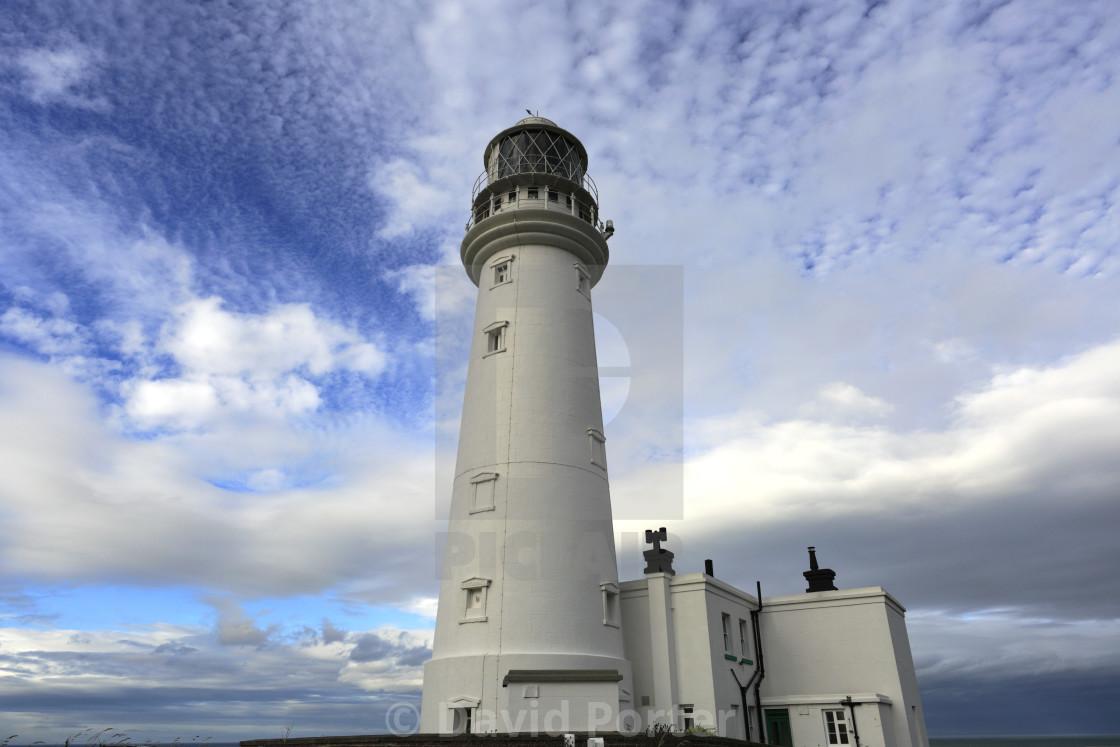 """""""The Flamborough Head Lighthouse, East Riding of Yorkshire, England, UK"""" stock image"""