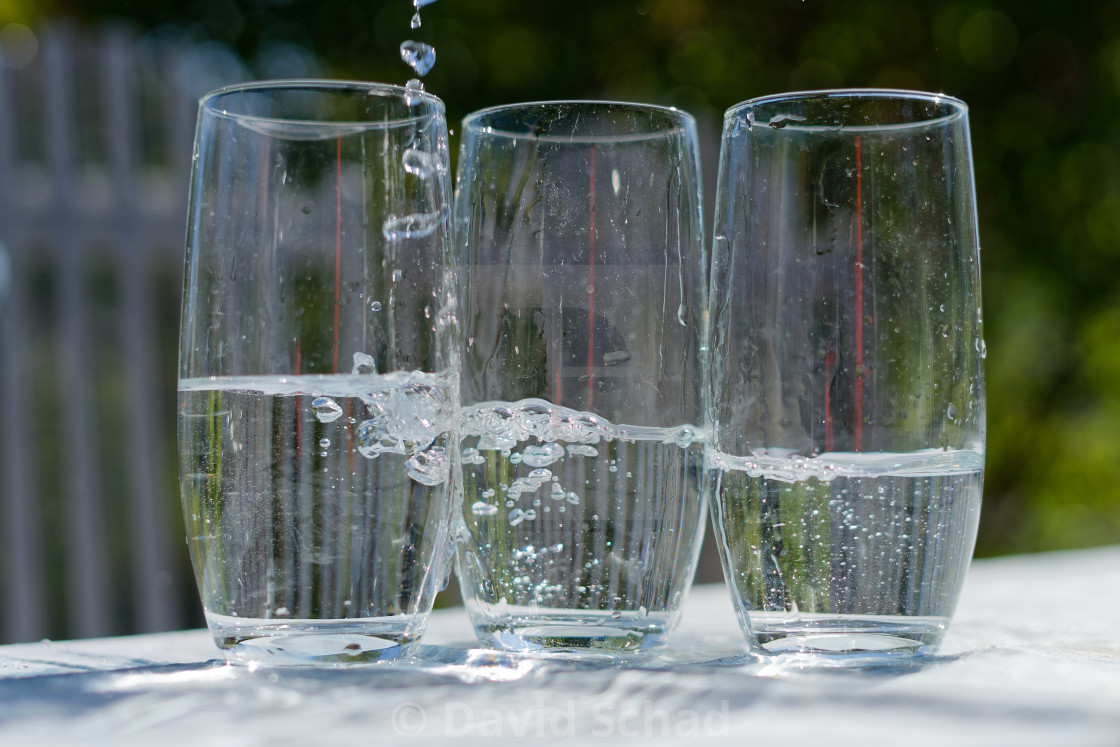 """""""Glasses of water"""" stock image"""