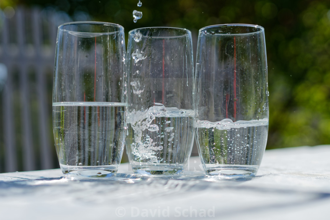 """Glasses of water"" stock image"