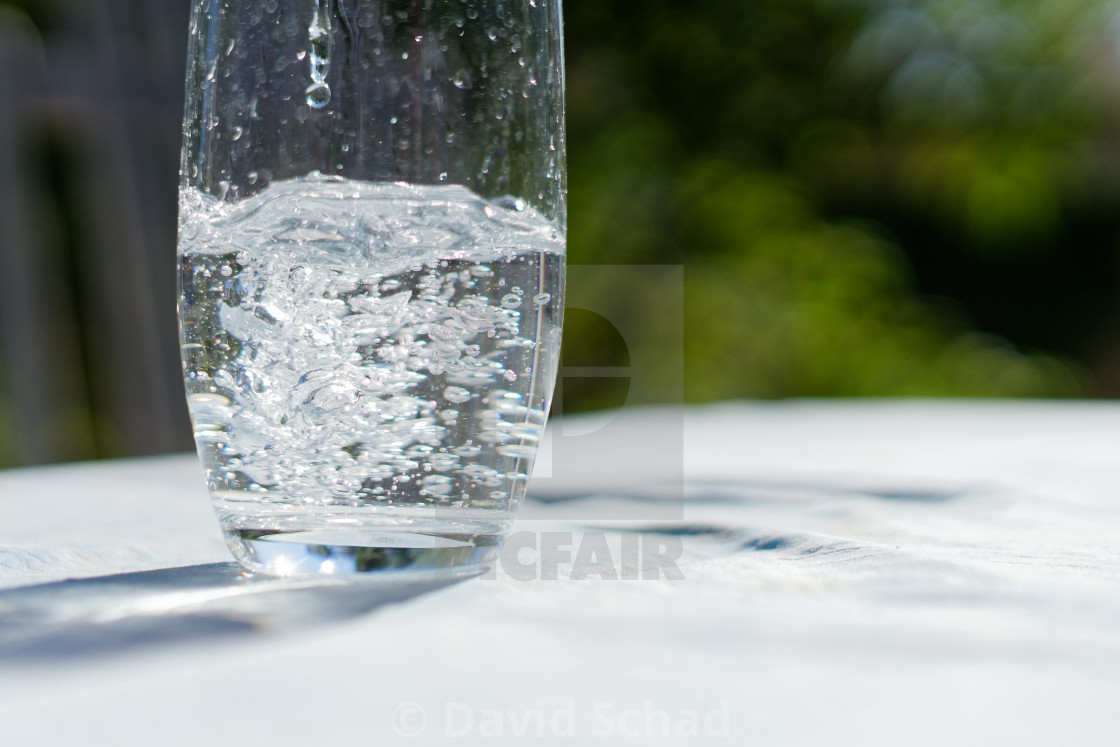 """Glass of water"" stock image"
