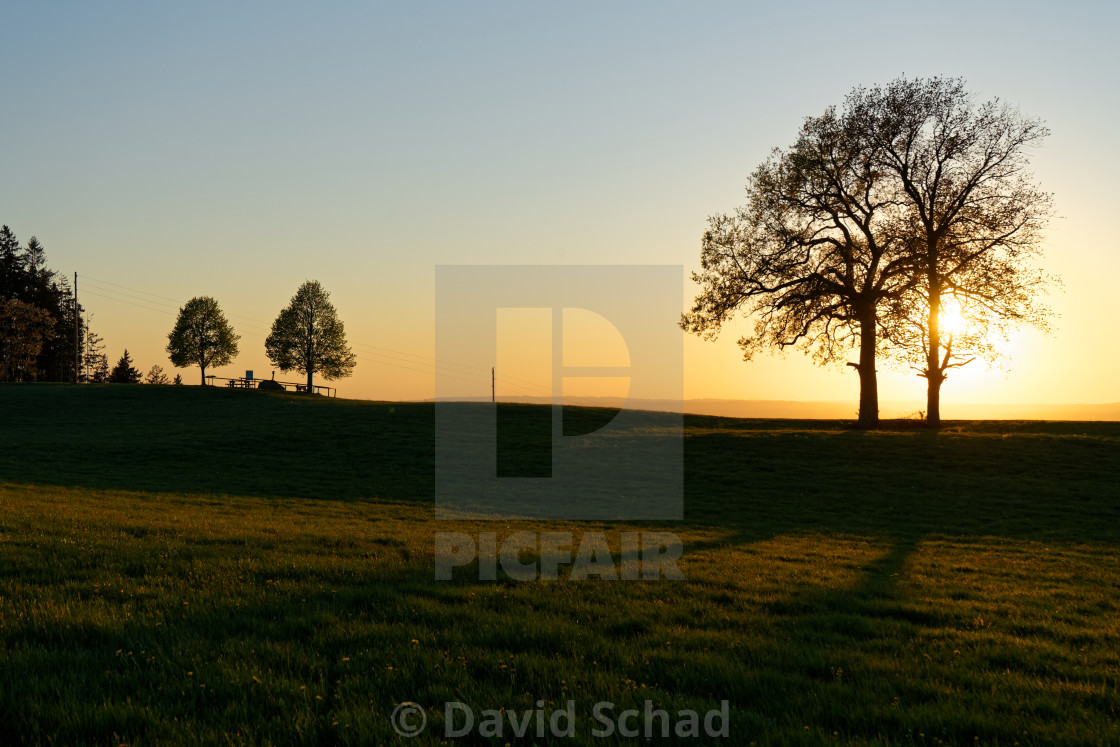 """Sunset scenery"" stock image"