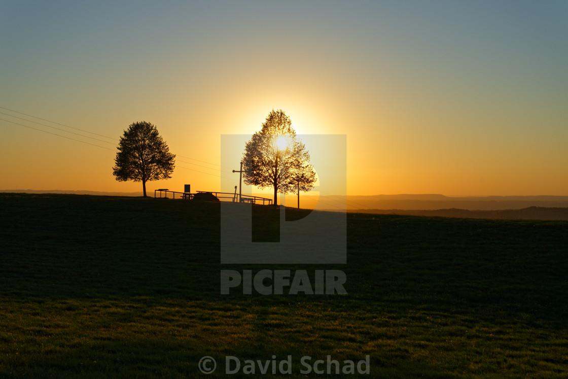 """Sunset scenery"" stock image"