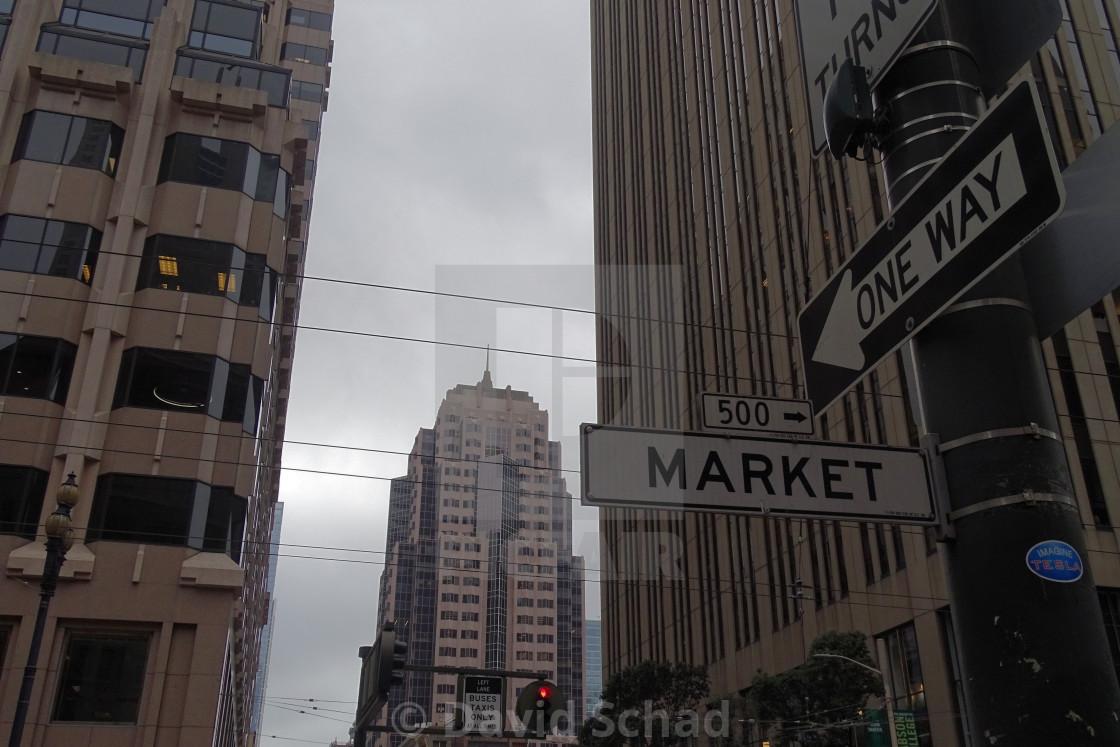 """Market Street San Francisco"" stock image"
