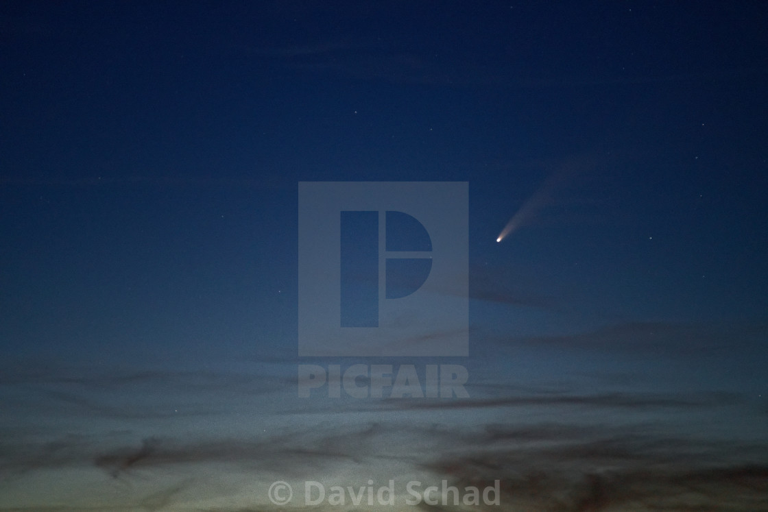 """""""Comet Neowise over southern Germany"""" stock image"""