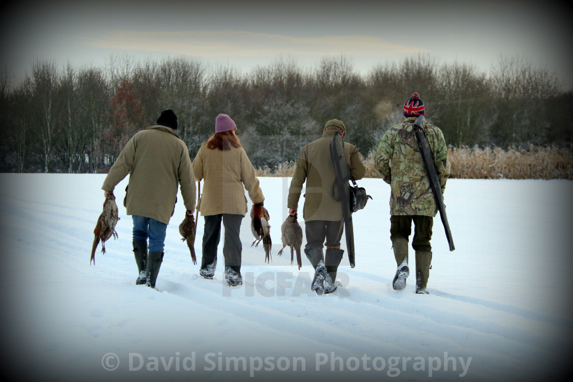 """Winter game shooting"" stock image"