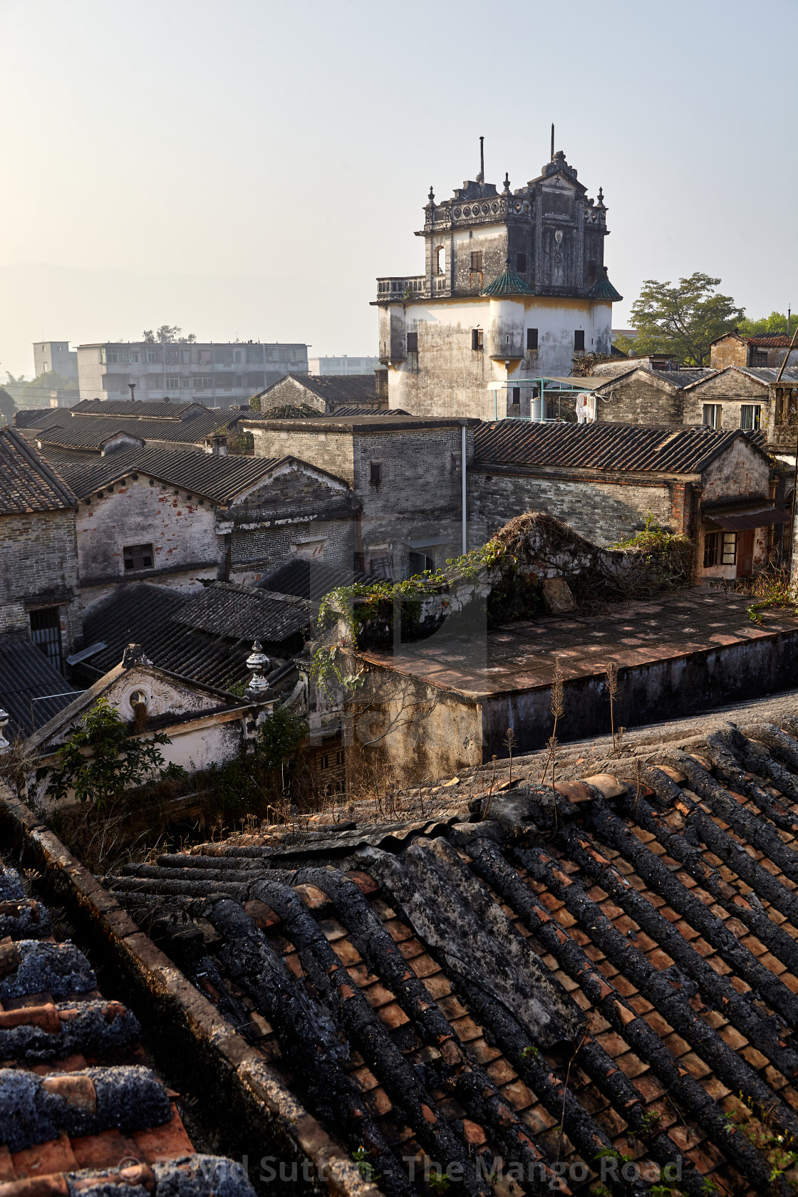 """The rooftops of Chikan old town"" stock image"