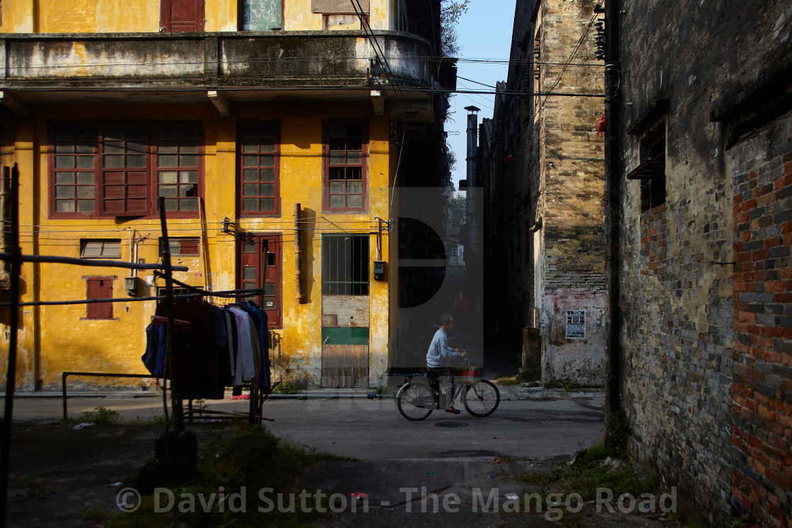 """""""The streets of Chikan old town Chikan was founded in 1649 and grew rapidly..."""" stock image"""