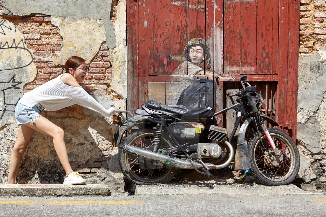 """""""Penang street art"""" stock image"""