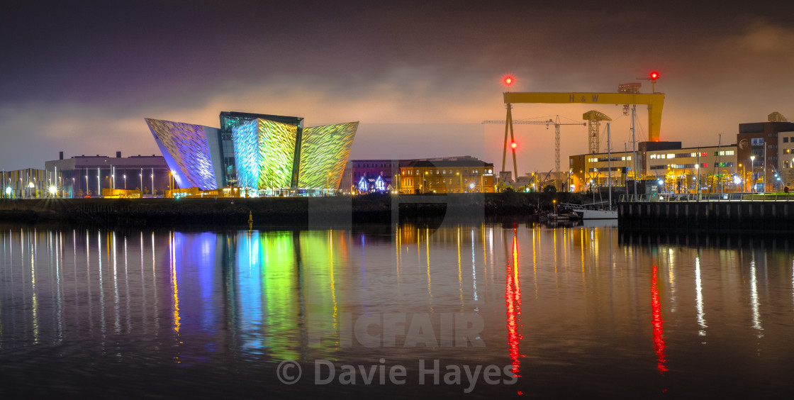 """A bright display at Titanic Belfast"" stock image"