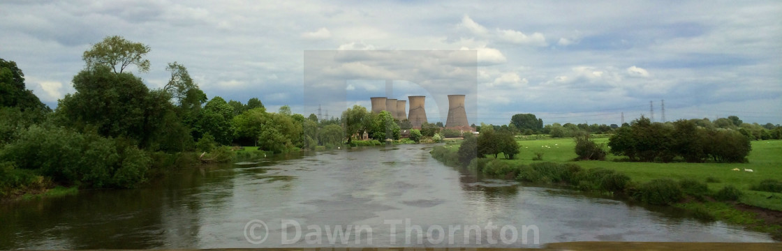 """Willington Power Station"" stock image"