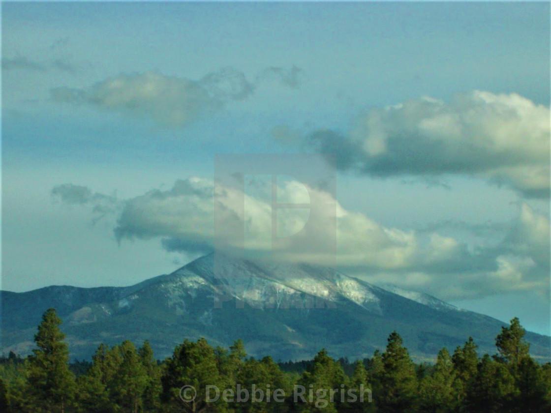 """Mt Humphreys Flagstaff Arizona USA"" stock image"