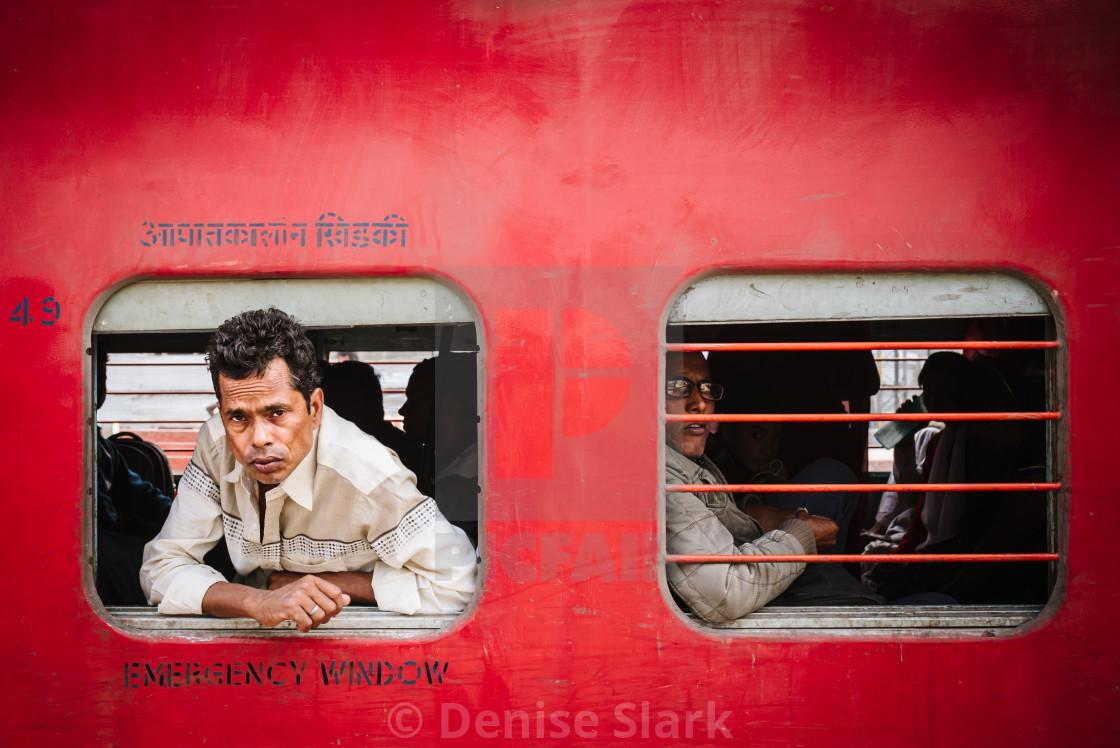 """""""Varanasi train passenger"""" stock image"""