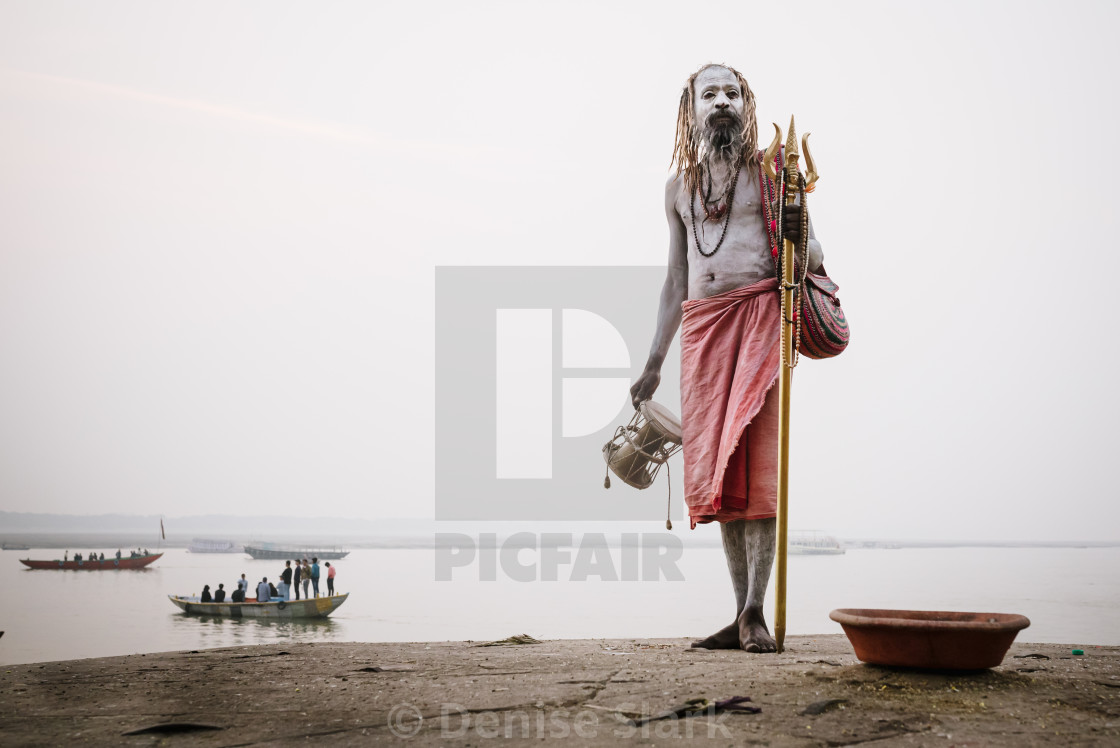 """""""Holy man portrait at dawn"""" stock image"""