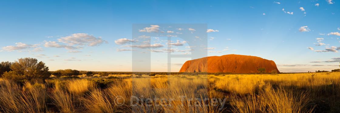 """Uluru sunset panorama"" stock image"