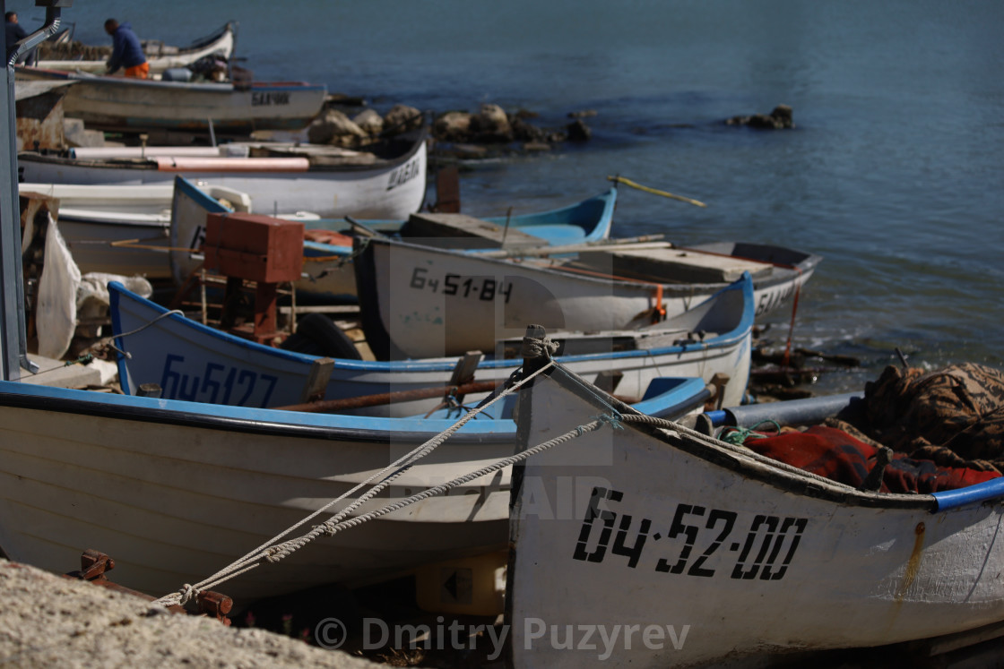 """Fisherman's boats"" stock image"