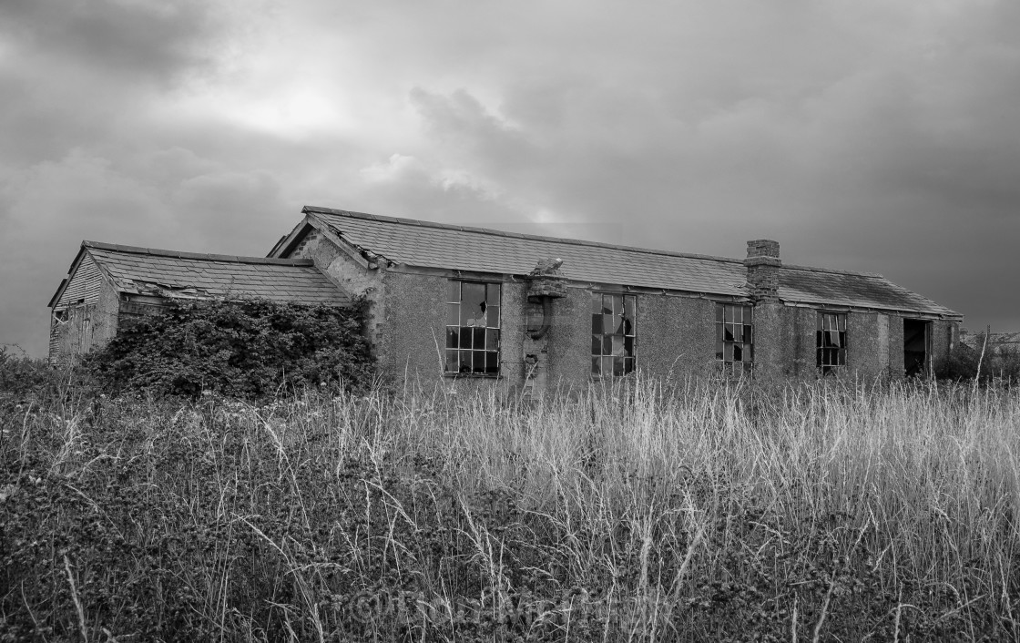 """Derelict WW1 Officers Mess"" stock image"