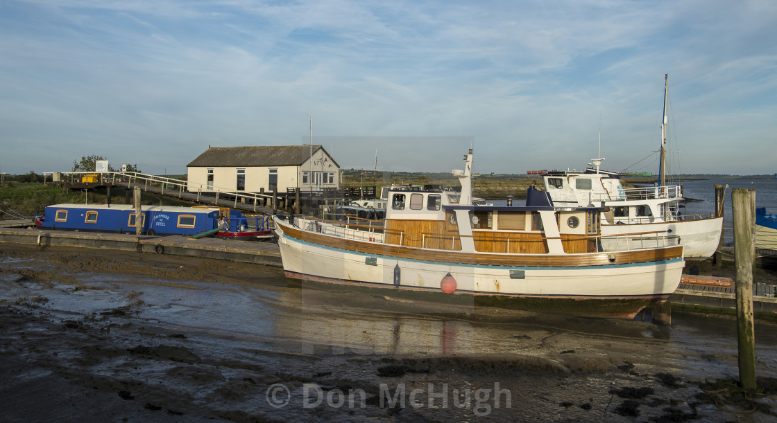 """Mooring at North Fambridge"" stock image"