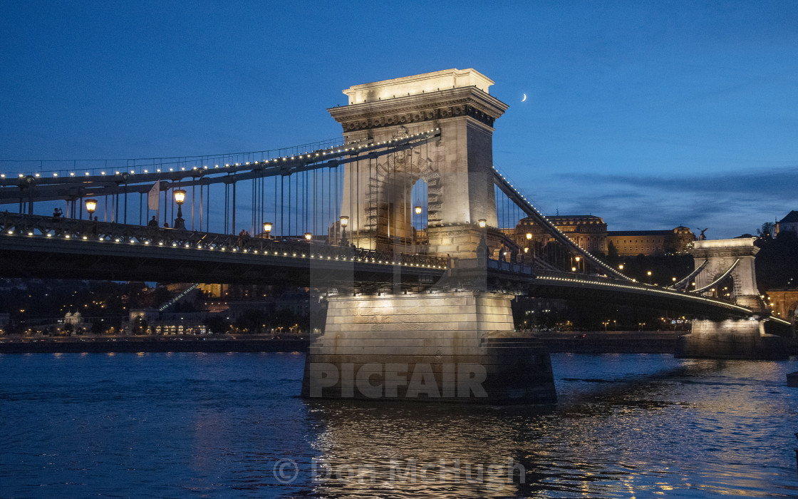 """Freedom Bridge Budapest (III)"" stock image"
