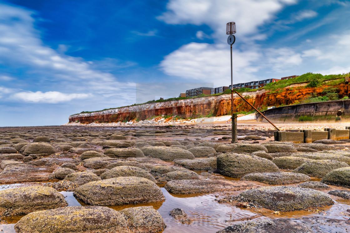"""Low Tide from Hunstanton Beach, UK."" stock image"