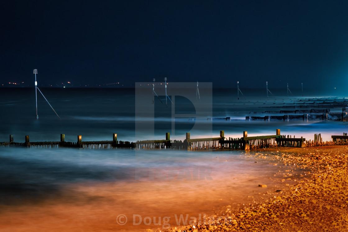 """Night time from Hunstanton Beach, UK."" stock image"