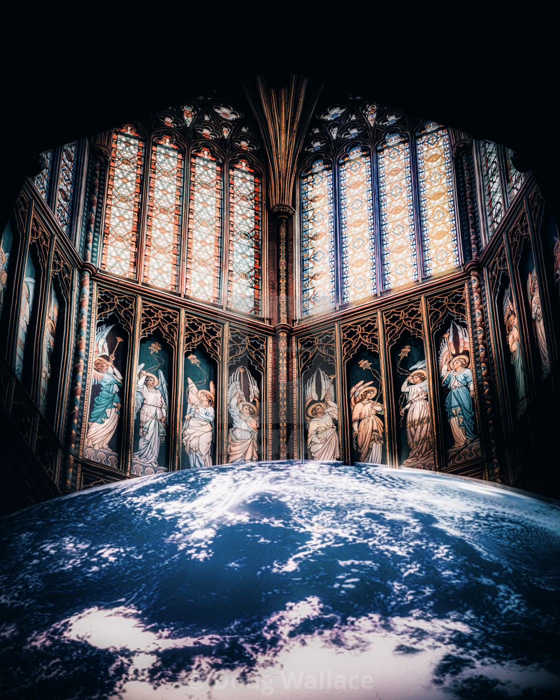 The Octagon Tower and Gaia, Ely UK.
