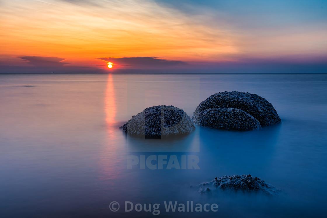 Long Exposure Sunset from Hunstanton Beach, UK.