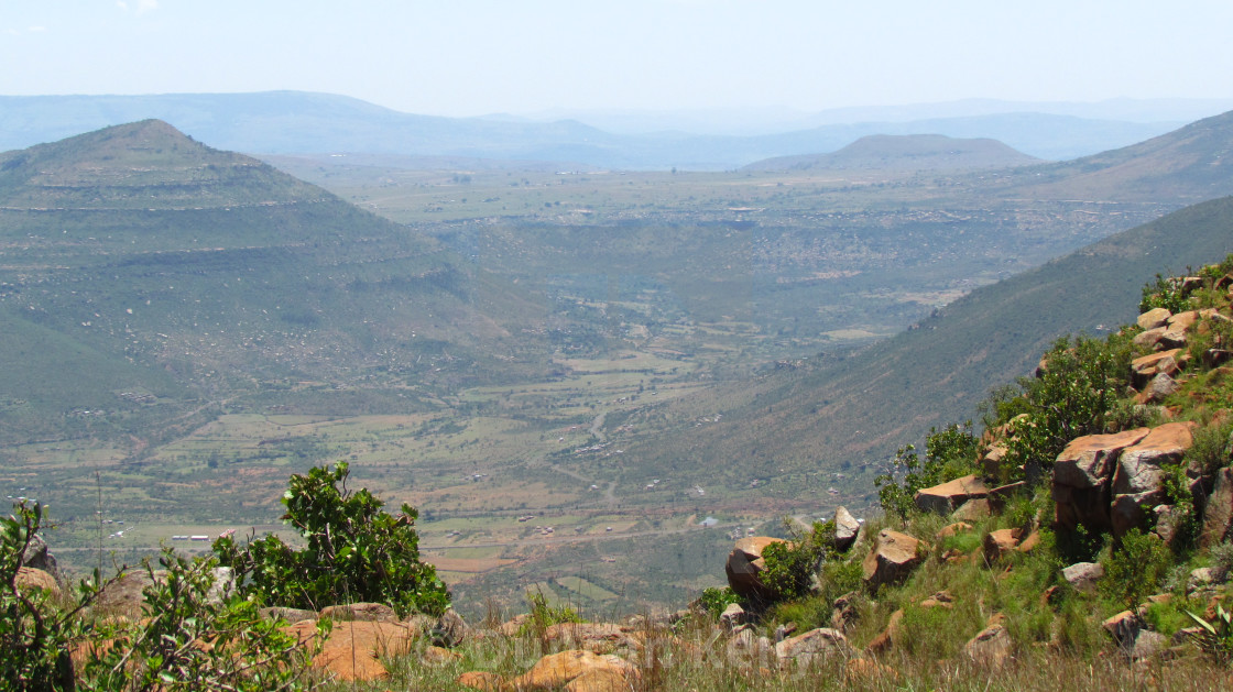"""""""Part of the Tugela river valley area"""" stock image"""