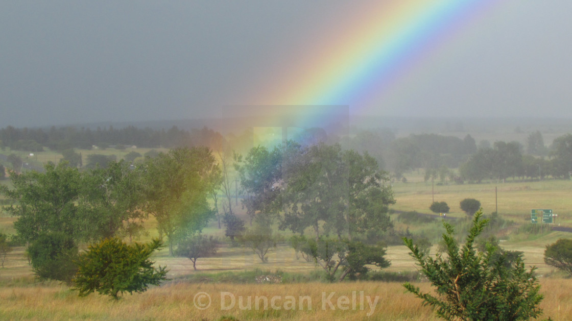 """""""The end of a rainbow close by!"""" stock image"""