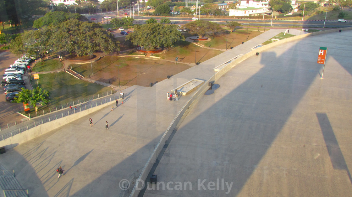 """Large concrete area at Moses Mabhida stadium."" stock image"