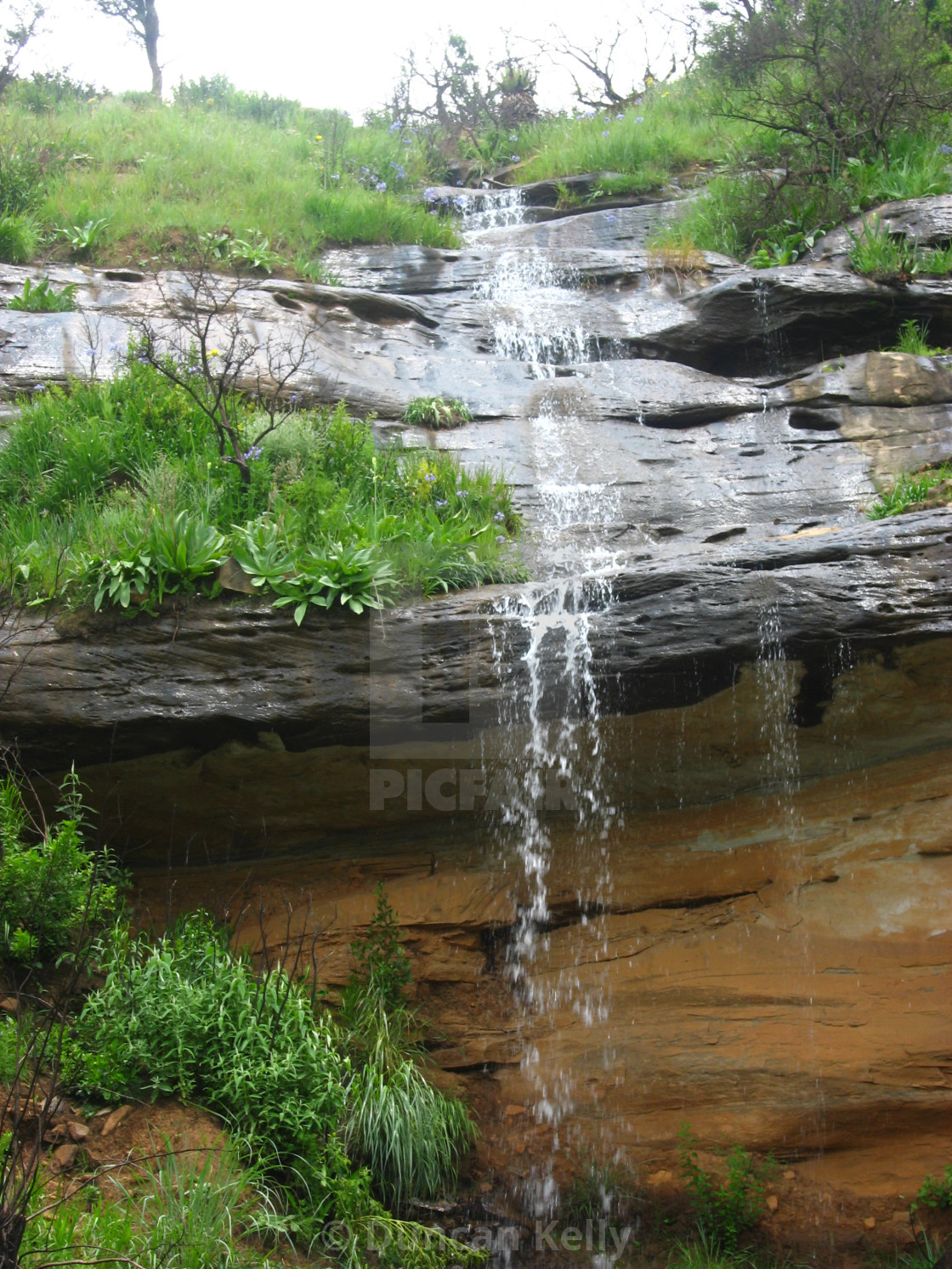 """""""A waterfall on a farm near Fort Mistake"""" stock image"""