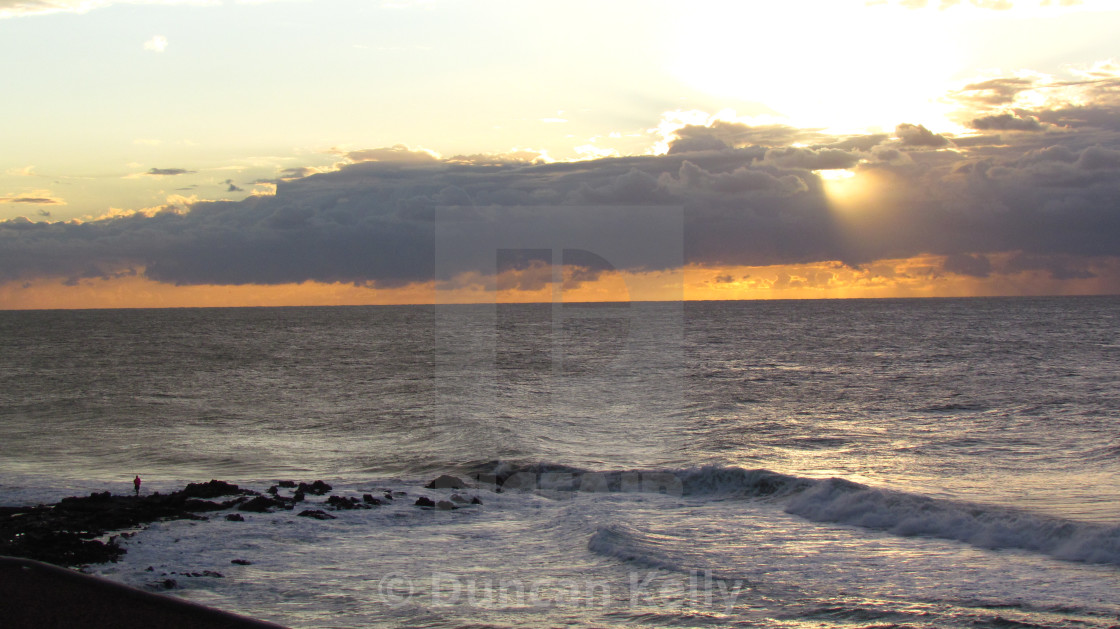 """""""Early morning over the Dolphin Coast"""" stock image"""