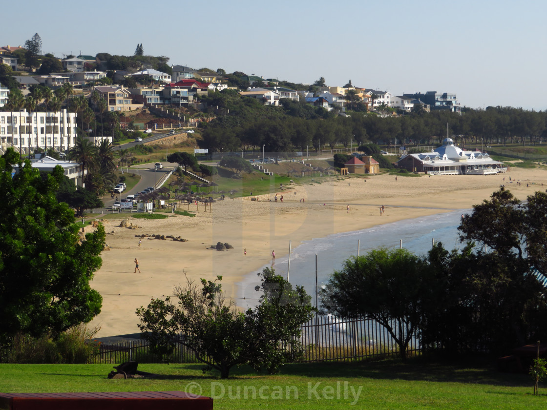 """""""Mossel Bay main swimming beach, South Africa."""" stock image"""
