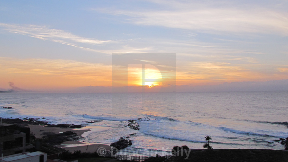 """""""Dawn at Granny's pool on the Dolphin coast."""" stock image"""