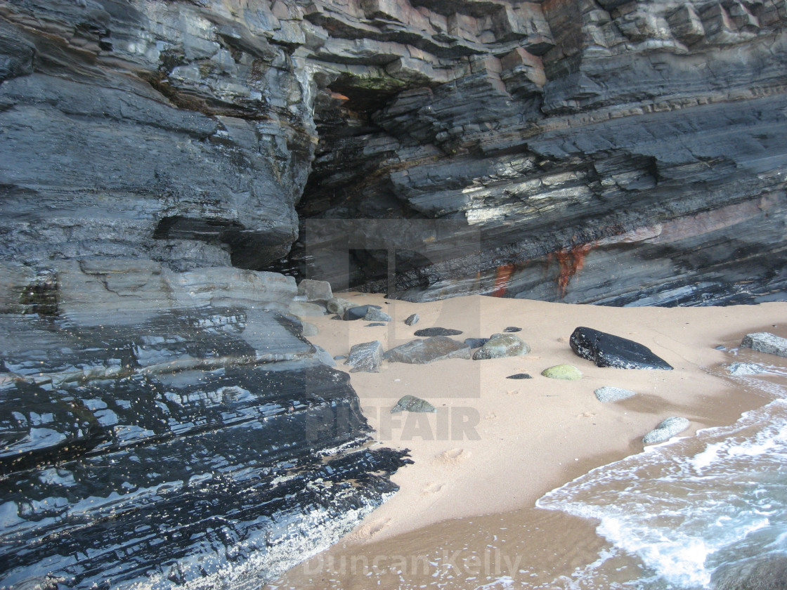 """""""A cave on the beach at Shaka's Rock in South Africa."""" stock image"""