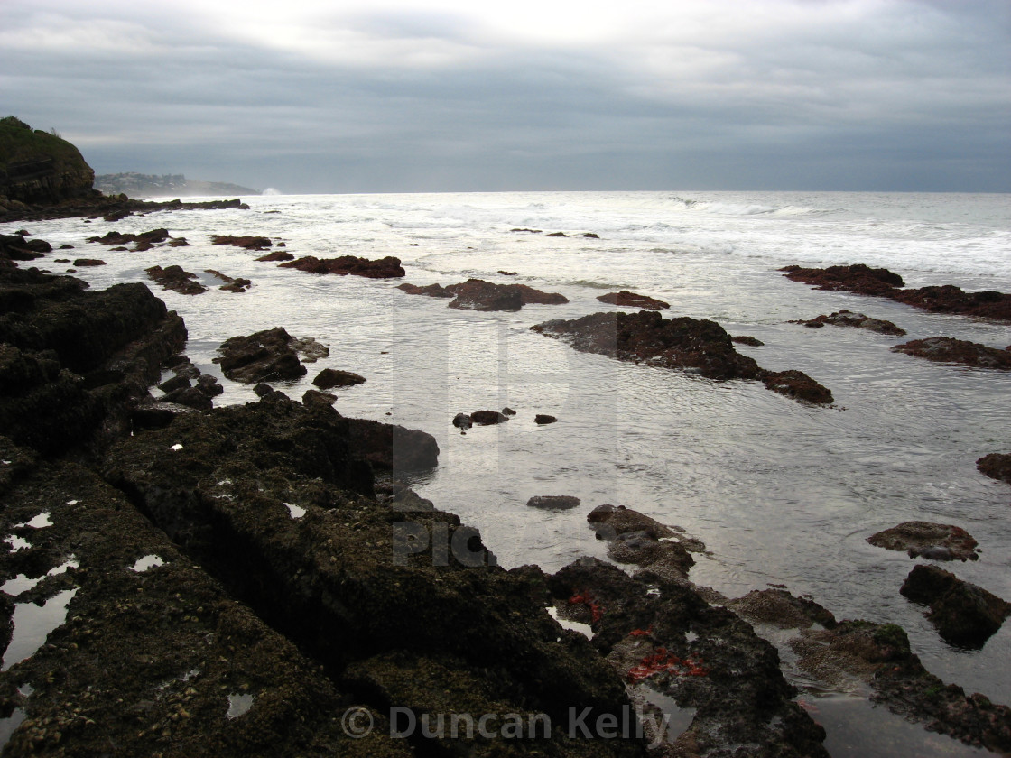 """""""Lovely rock pools with lots of sea life at Shaka's Rock."""" stock image"""