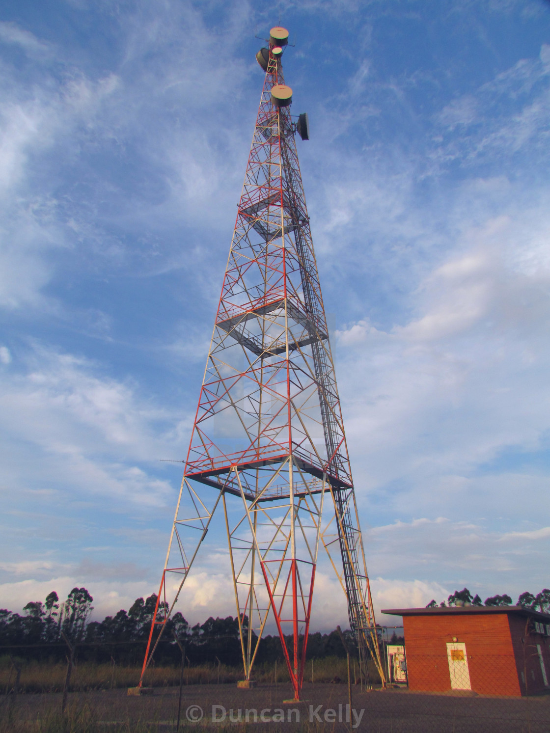 """""""A telecommunication mast for the power grid."""" stock image"""