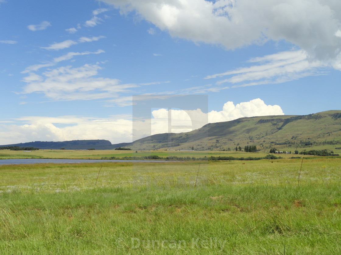 """""""Wide open Natal countryside near Dundee."""" stock image"""