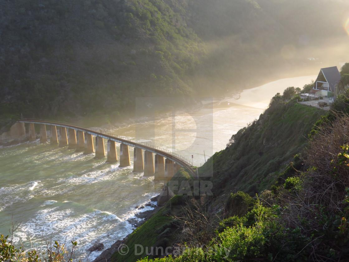 """An old disused railway bridge near Wilderness"" stock image"