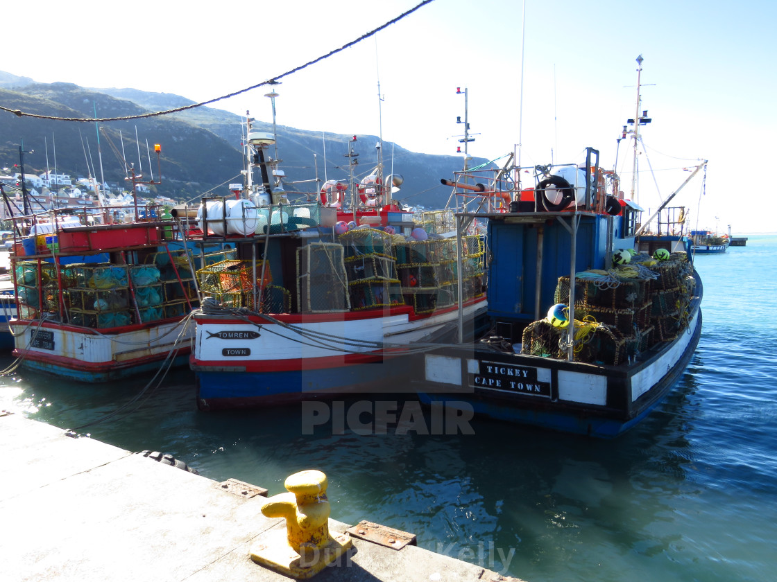 """""""Kalk Bay harbour and fishing boats."""" stock image"""
